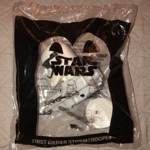 McDonald's Star Wars first order stormtrooper toy